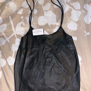 Black leather skirt/dress